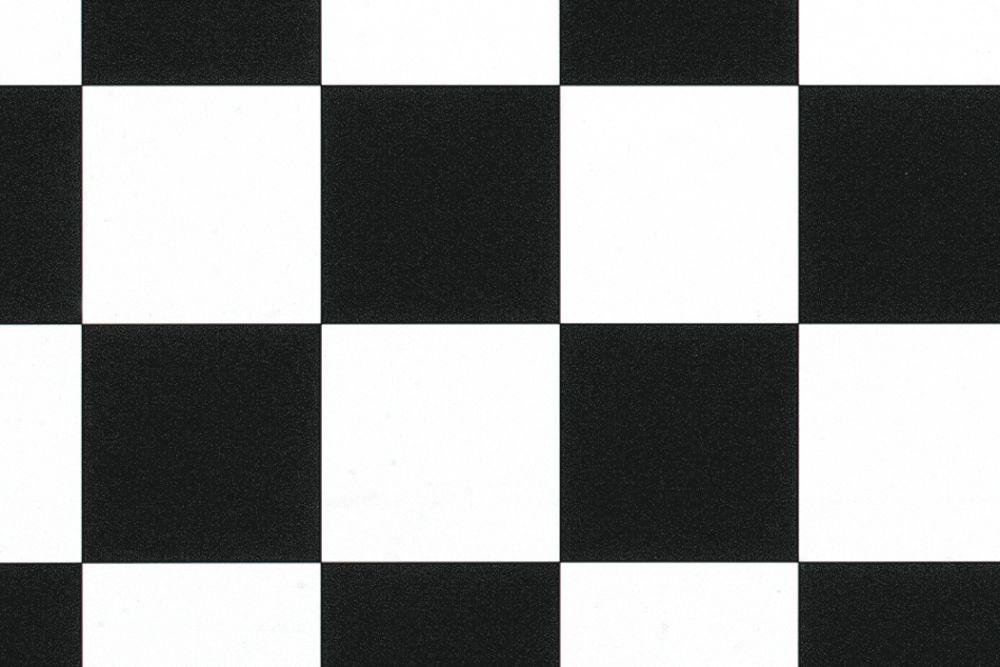 Comfort Vinyl Schwarz/Weiß Schachbrettmuster